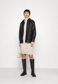Dorothy Perkins - COSY ROLL NECK DRESS - Jumper dress - oatmeal - 1