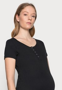 Cotton On - MATERNITY HENLEY SHORT SLEEVE - T-shirt basic - black - 3