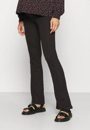 MLLUNA PINTUC FLARED PANT - Trousers - black