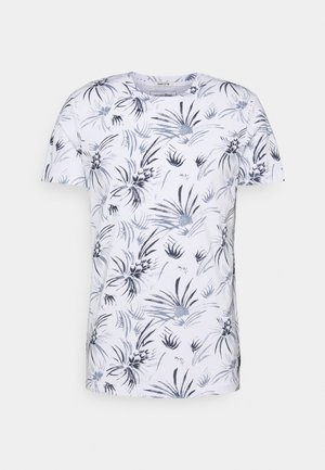 ALLOVER PRINTED - T-shirt med print - white/navy