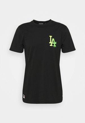 LOS ANGELES DODGERS MLB NEON TEE - Club wear - black