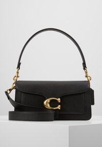 Coach - TABBY POLISHED SMALL FLAP BAG HANDBAG - Bolso de mano - black - 0