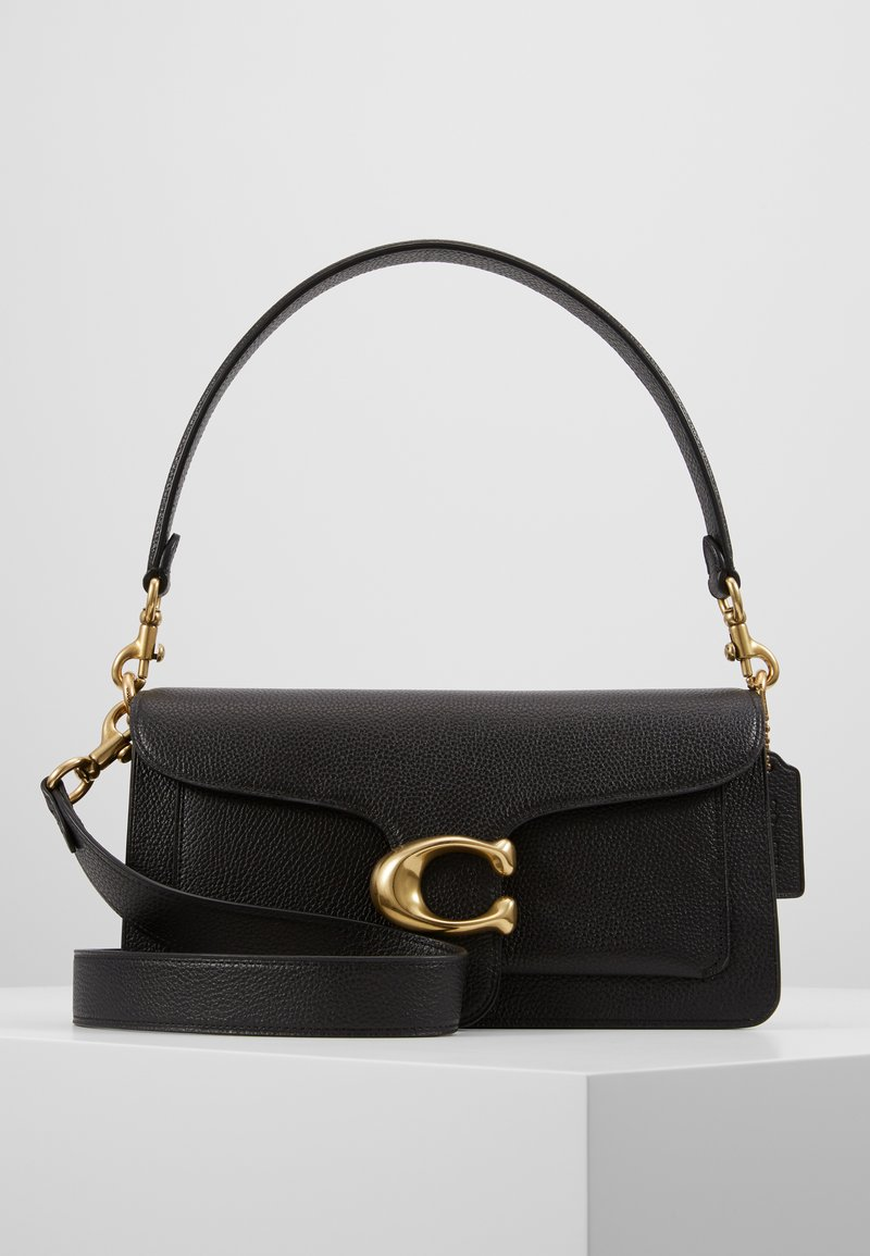 Coach - TABBY POLISHED SMALL FLAP BAG HANDBAG - Bolso de mano - black