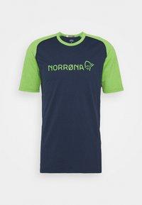 Norrøna - FJØRÅ EQUALISER LIGHTWEIGHT - T-shirt imprimé - foliage/indigo night - 4