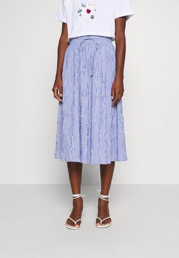 MIDI SKIRT STRIPED - A-line skirt - deep indigo
