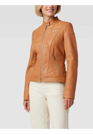 LIBRA - Leather jacket - camel