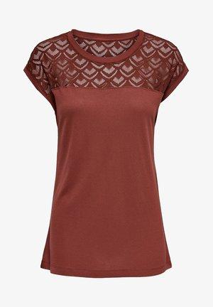 ONLNICOLE LIFE MIX - Print T-shirt - cognac