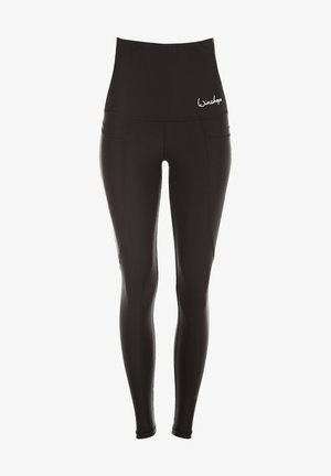 HWL103 SCHWARZ HIGH WAIST -TIGHTS - Leggings - schwarz