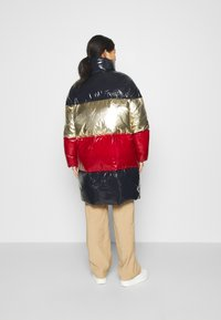 Tommy Hilfiger - COLORBLOCK MAXI - Down coat - desert sky/gold/arizona red - 2