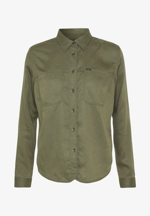 2 POCKET WORK SHIRT - Button-down blouse - olive green