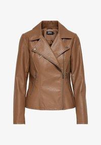 ONLY - ONLMELISA BIKER - Faux leather jacket - cognac - 0