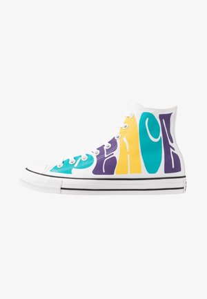 CHUCK TAYLOR ALL STAR - Sneakersy wysokie - white/court purple/amarillo