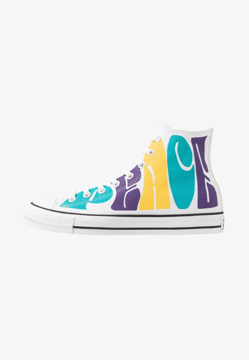 Converse - CHUCK TAYLOR ALL STAR - Baskets montantes - white/court purple/amarillo