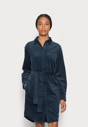 DRESS RELAXED STYLE CHEST POCKET BELTED - Shirt dress - breezy sea
