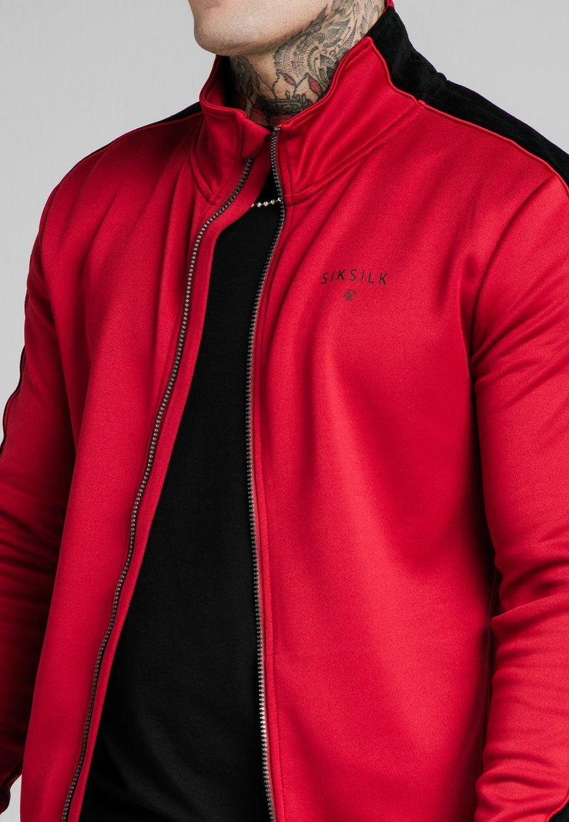 SIKSILK - IMPERIAL ZIP THROUGH HOODIE - Zip-up sweatshirt - dark red