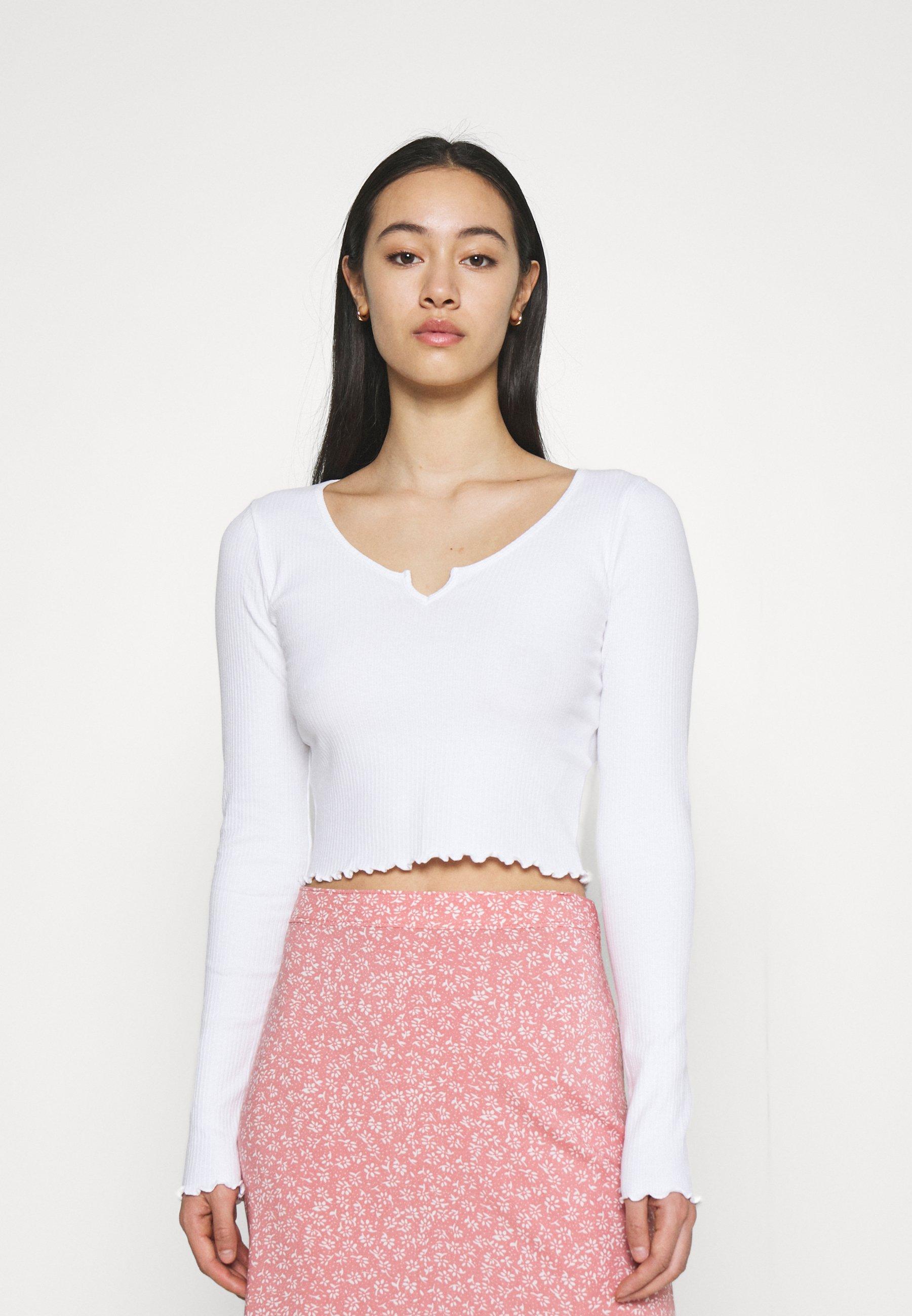 Women NOTCH NECK - Long sleeved top