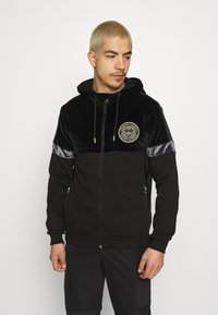 Glorious Gangsta - ARMANDO ZIPHOODIE - Zip-up sweatshirt - jet black - 0