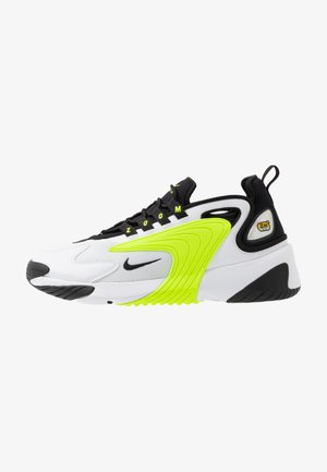 ZOOM  - Sneakersy niskie - white/black/volt