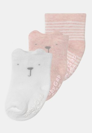 3 PACK UNISEX - Strumpor - pink heather