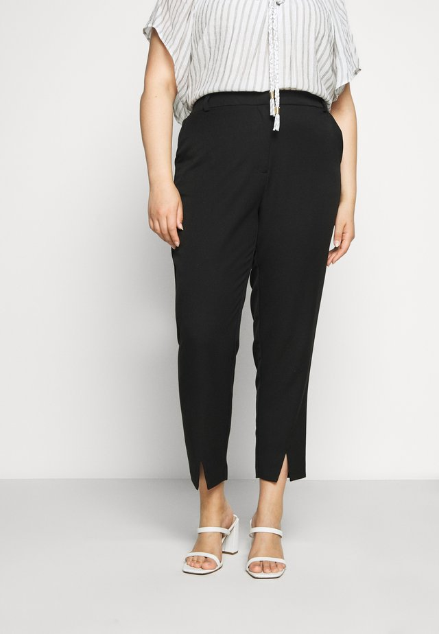 JRBELL TAILORED ANKLE SLIT PANTS - Stoffhose - black