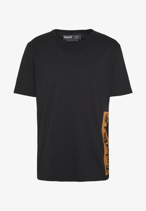 ESTABLISHED BLOCK LOGO TEE - Print T-shirt - black/wheat boot