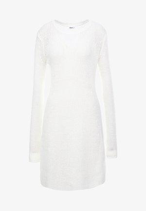 DRESS - Pletené šaty - offwhite