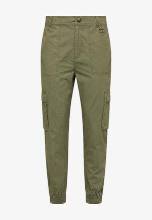 Cargo trousers - militär grün