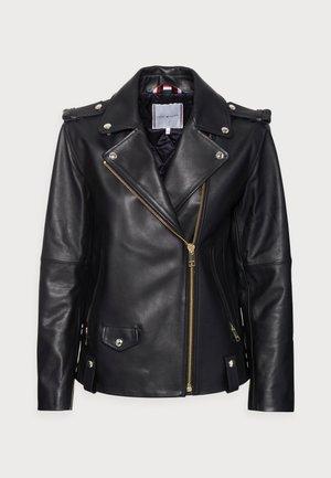 ICON LEATHER OVERSIZED BIKER  - Leather jacket - black