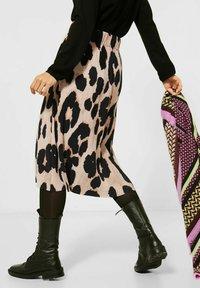 Street One - ROCK MIT MUSTER - A-line skirt - beige - 2