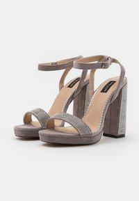 River Island Wide Fit - Platform sandals - grey - 2