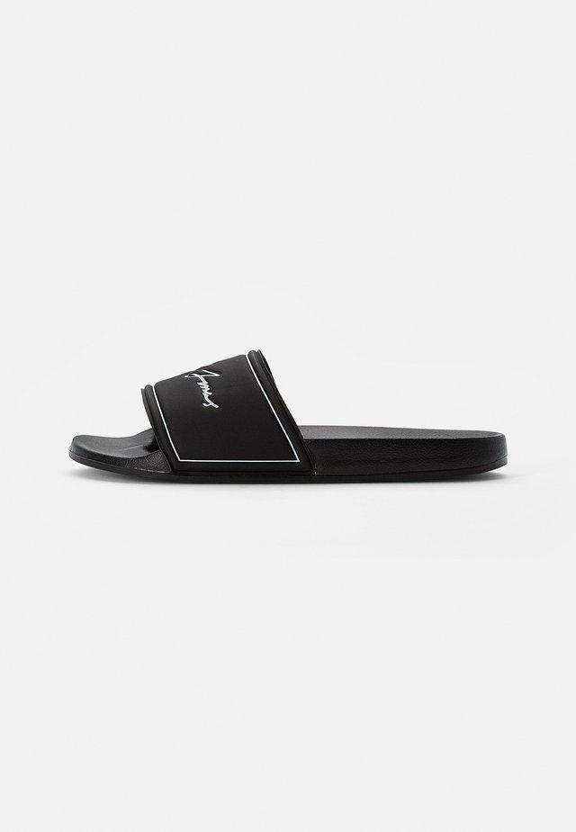 POOL SLIDER - Pantofle - anthracite