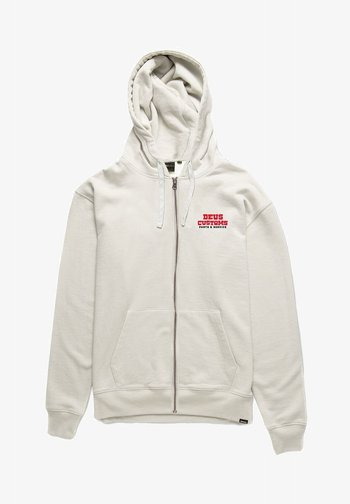 Zip-up sweatshirt - vintage white
