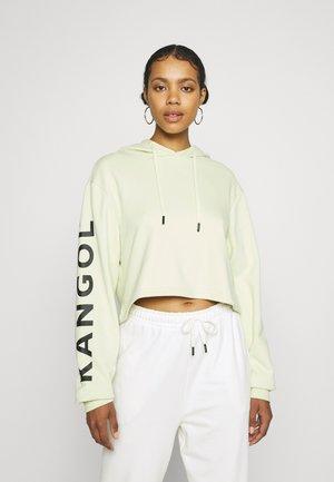 MAINE CROPPED HOODY - Sweatshirt - light green