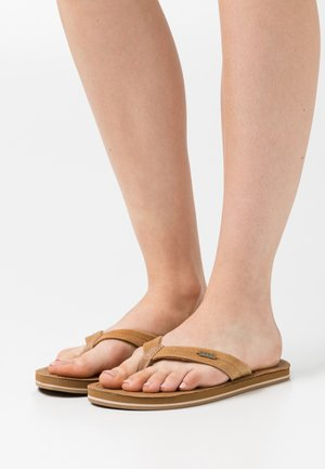 DRIFT AWAY - T-bar sandals - caramel