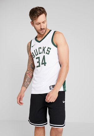 NBA MILWAUKEE BUCKS GIANNIS ANTETOUNMPO - Club wear - white/fir/flat opal