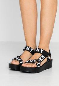DKNY - AYLI - Platform sandals - black - 0