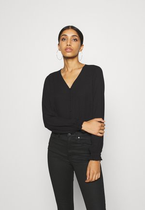 VMACACIA V NECK - Topper langermet - black