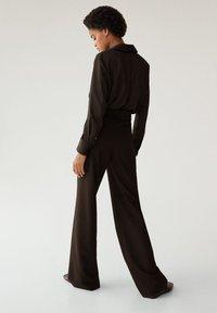 Mango - SATINI - Button-down blouse - schwarz - 2