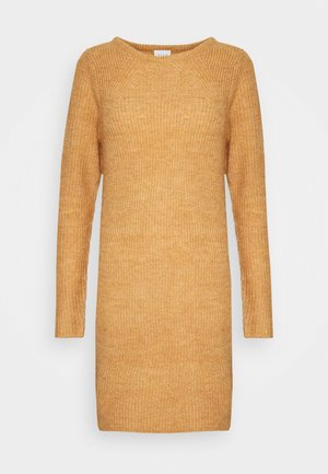 VISURIL O-NECK DRESS - Strickkleid - pumpkin spice melange