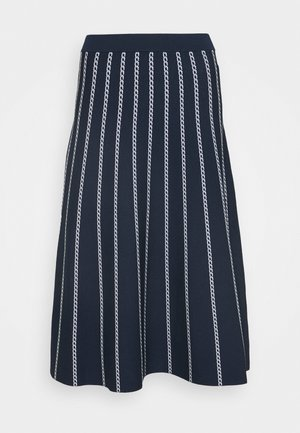 CHAIN SKIRT - Áčková sukně - dark blue