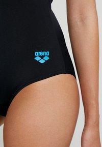 Arena - ESSENTIALS SWIM PRO BACK ONE PIECE - Swimsuit - black/turquoise - 5