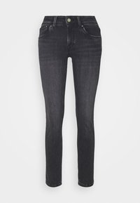 SATURN - Straight leg jeans - black denim