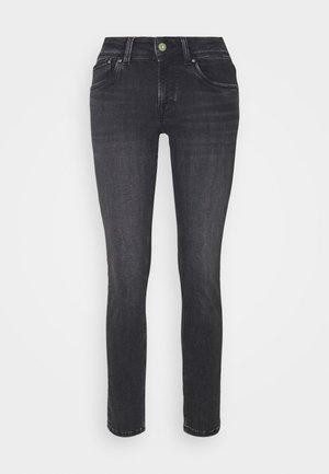 SATURN - Straight leg jeans - black denim
