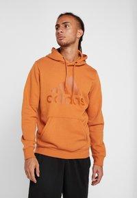 adidas Performance - Zip-up hoodie - brown - 0
