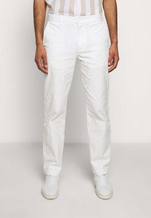STRAIGHT LEG WORK PANT - Stoffhose - white