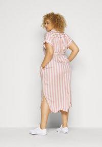 Lauren Ralph Lauren Woman - CICERO SHORT SLEEVE CASUAL DRESS - Shirt dress - pink/white - 2
