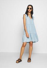 Superdry - TINSLEY TIERED DRESS - Denim dress - indigo light - 1