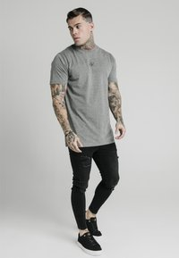 SIKSILK - SQUARE HEM TEE - Basic T-shirt - grey - 1