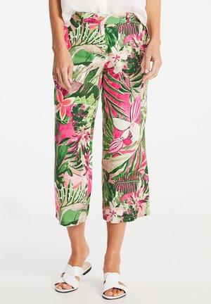 Trousers - lila/pink/grün druck