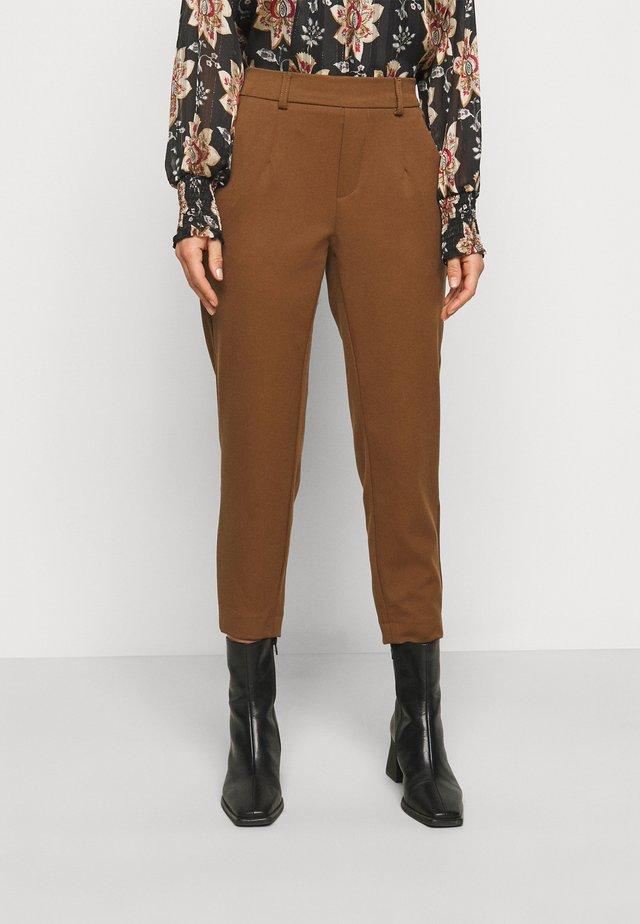 OBJLISA SLIM PANT PETIT - Trousers - partridge